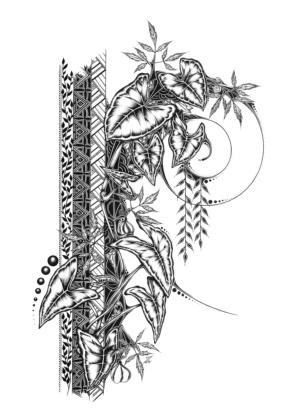 Syngonium - Original Drawing 42cmx30cm - 470€
