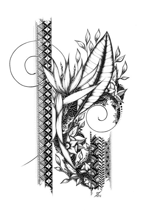 Strelizia 2 - Original Drawing 21cmx29,7cm - 250€
