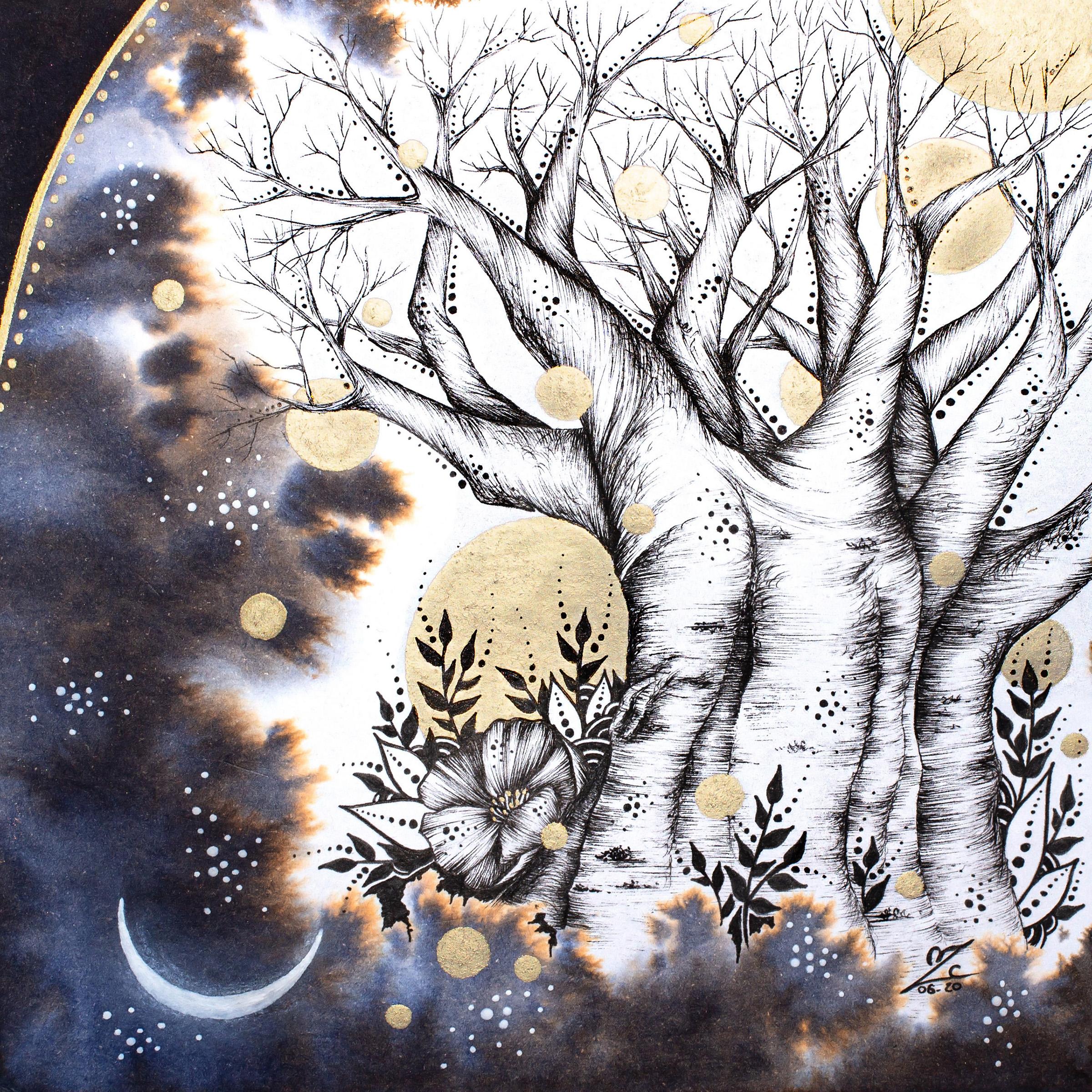 Baobab - 14x14cm - Sold